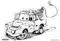 Plansa de colorat cu Cars Mater