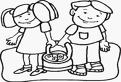 Copii si cosul de Paste