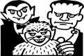 Costume cu Dracula, Frankenstein si Varcolacul