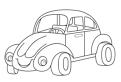 Plansa de colorat cu broscuta Volkswagen