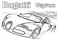 Plansa de colorat cu Bugatti Veyron
