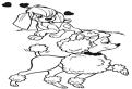 Plansa de colorat cu catelusii din animatia Anastasia