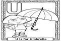 U de la umbrela