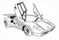 Plansa de colorat cu o masina Lamborghini