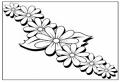 Plansa de colorat cu flori pentru coronita