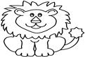 Plansa de colorat cu un leu