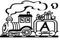 Litera A in tren