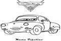 Plansa de colorat cu Mama Topolino din Cars