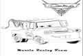 Plansa de colorat cu Martin Racing Team