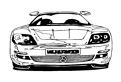 Plansa de colorat cu un Mercedes