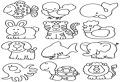 Multe animale de colorat