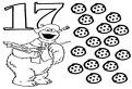 Numarul 17 de colorat