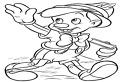 Pinochio de colorat
