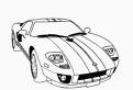 Plansa de colorat cu o masina Porsche
