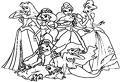 Plansa de colorat cu printese Disney