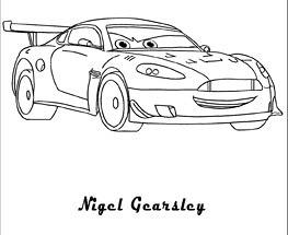 Plansa de colorat cu Nigel Gearsley