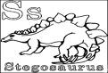 S de la stegosaurus de colorat