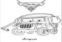 Plansa de colorat cu masina Sergent din Cars 2