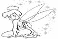 Plansa de colorat cu Tinkerbell timida
