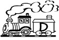Litera D in vagon