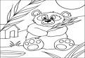 Ursul panda de colorat
