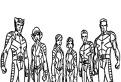 Echipa X-Men de colorat