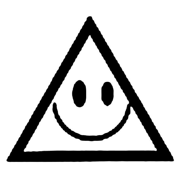Coloreaza triunghiul zambitor