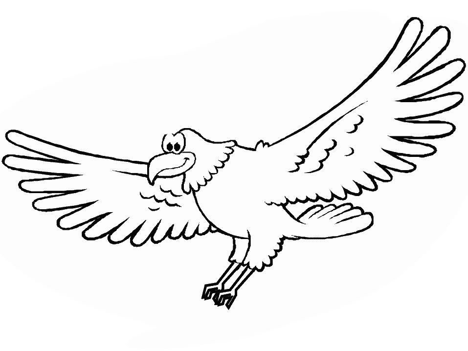 Plansa de colorat cu un vultur - Comment dessiner un aigle royal ...