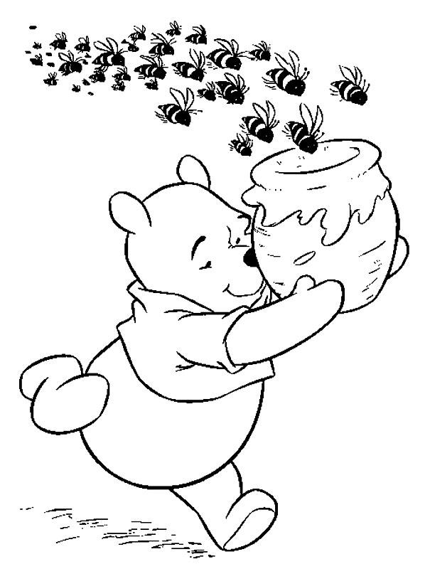 Winnie de plus, mierea si albinele