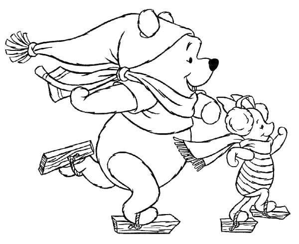 Winnie de plus patineaza de Craciun