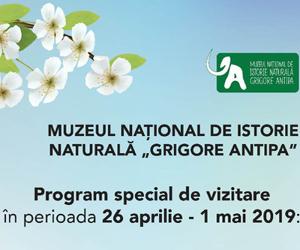 Muzeul Antipa, deschis in a treia zi de Paste, precum si de 1 mai!