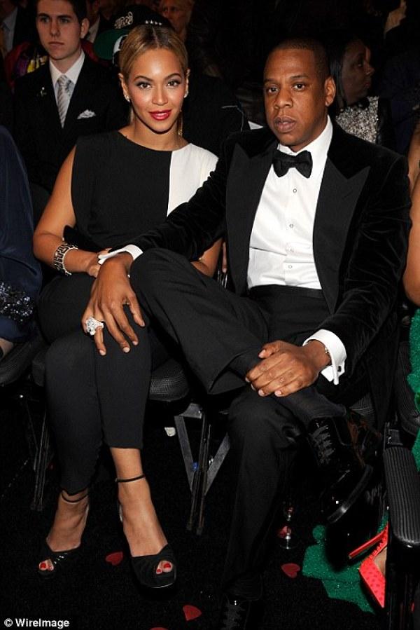 Beyonce si sotul sau, Jay-Z la decernarea premiilor Grammy