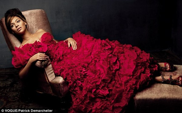 Beyonce intr-o rochie Haute Couture