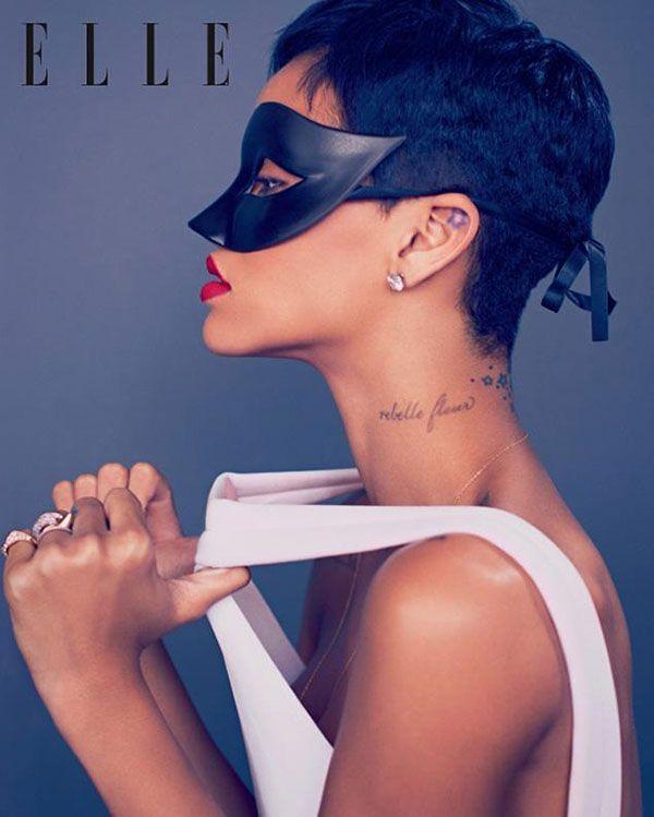 Rihanna a aparut in revista Elle