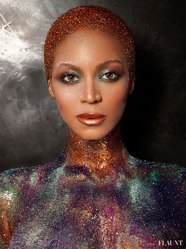 Beyonce pe coperta Flaunt 2013