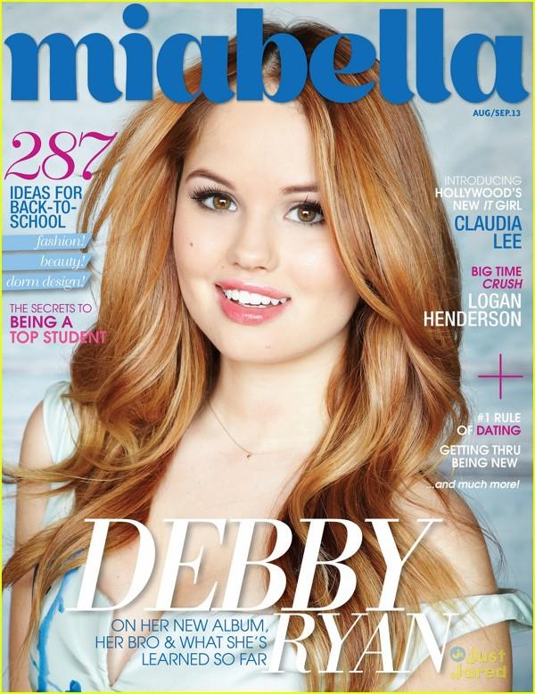 Debby Ryan pe coperta revistei Miabella