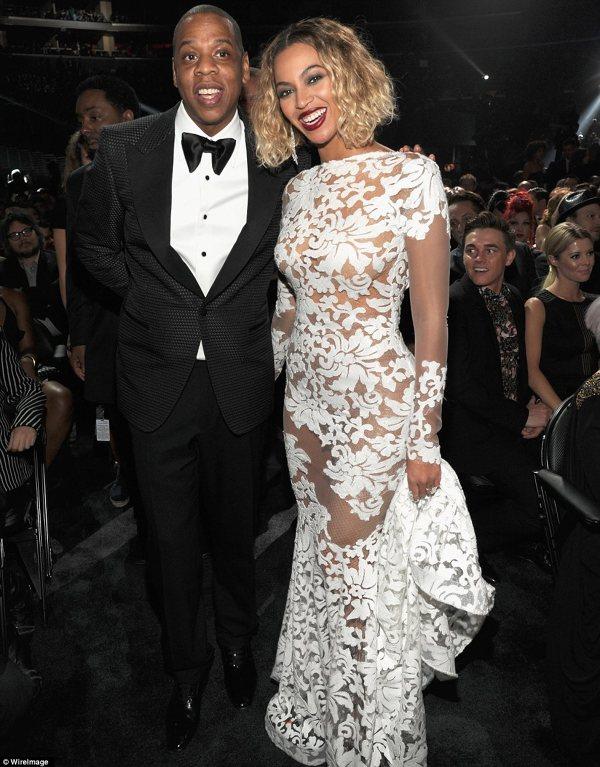 Beyonce si sotul ei la premiile Grammy 2014