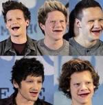 One Direction fara sprancene si dinti