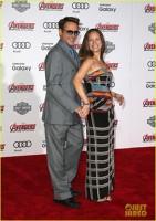 Robert Downey Jr si sotia sa la premiera Avengers: Age o Ultron