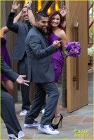 Deli Lovato si Wilmer Valderrama la nunta lui Tiffany Thornton