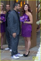 Demi Lovato si iubitul ei, Wilmer Valderrama la nunta  lui Tiffany Thornton