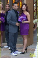 Demi Lovato cu iubitul la nunta lui Tiffany Thornton