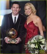 Shakira alaturi de Lionel Messi