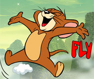 Tom and Jerry Fly With Clouds