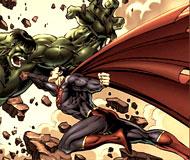 Hulk with Superman