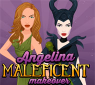 Angelina Maleficent Makeover
