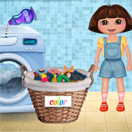 Dora Washing Clothes