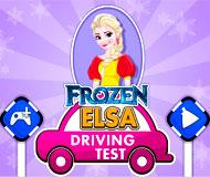 Frozen Elsa Driving Test