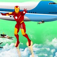 Iron Man Saving Air Force One