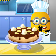 Minion Cooking Banana Cake